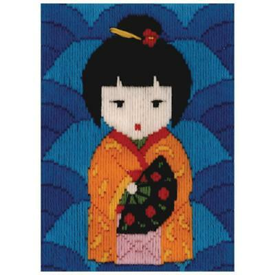Japanese Doll Long Stitch Kit for Kids Beginners from Beutron 579876