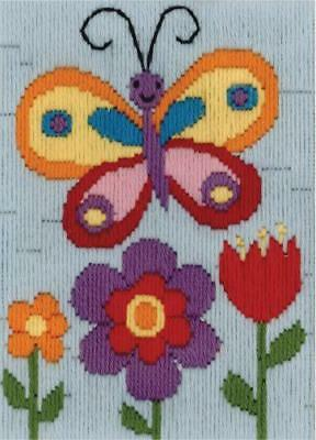 Butterfly Long Stitch Kit for Kids Beginners from Beutron 579879