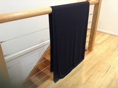 stretch jersey fabric 4 Meters Black