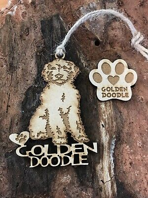 GOLDEN DOODLE  Christmas Ornament & 2 FREE MAGNETS