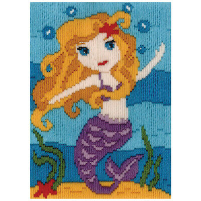 Mermaid Long Stitch Kit for Kids Beginners from Beutron 579877