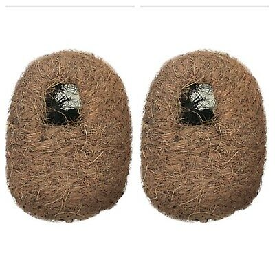 2 X Finch Nest Coco Wicker Box With Hooks to Back for Exotic Finch Cage /Aviary
