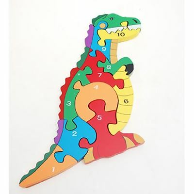 Traditional Wood 'n' Fun 1 -10 Chunky Dinosaur Puzzle by Ackerman