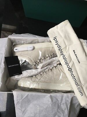 Balenciaga Arena Creased White Low Top Sneakers