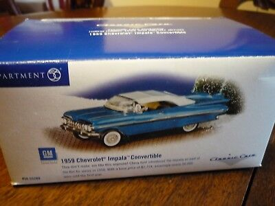 "2000 ""1959 CHEVROLET IMPALA CONVERTIBLE"" (Snow Village), Classic Cars"