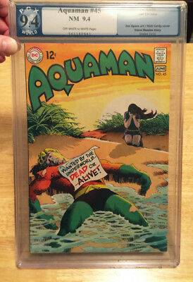 Aquaman #45 Pgx Near Mint 9.4 O/w To W 1969 Last .12 Cent Issue From Dc!