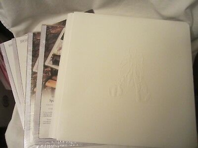 Creative Memories Baby White Leather Booties 12x12 Album White Pages Protectors