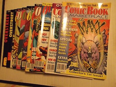 Overstreet Comic Book Marketplace / Monthly / Price Update Lot Of 11