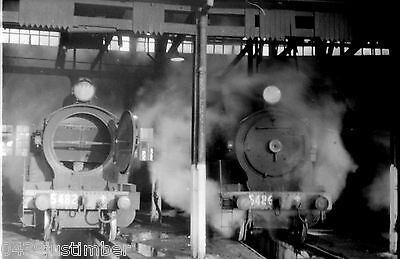 New South Wales Railways Steam 5482 & 5486 Port Waratah Loco Depot Newcastle