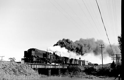 New South Wales Railways 60 Class Garratt 6009 near Wyee heading to Gosford 1970