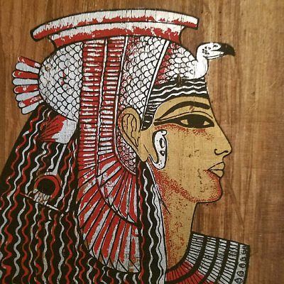 """Egyptian Original Hand Painted Papyrus 8""""X 12""""  Queen Cleopatra"""