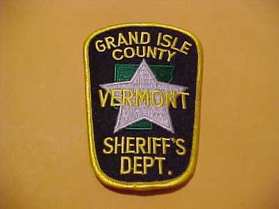 Grand Isle Vermont Police Patch Shoulder Size New