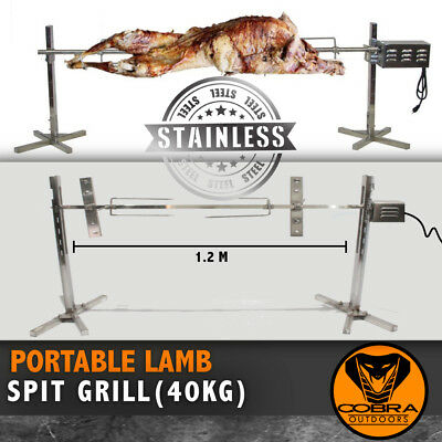 Campfire Camping SPIT Grill Grille rotisserie BBQ outdoor Portable Lamb pig