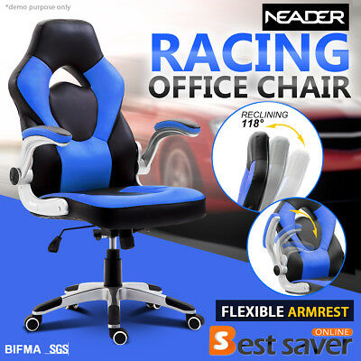 NEADER Reclining Executive Office Gaming Chair Swivel Computer Chair Desk Blue