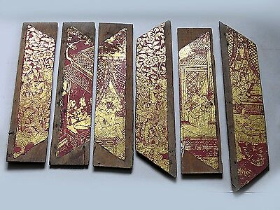 Beautiful & Most Rare Antique Thai Painting on Teakwood Cheap Don't Miss!