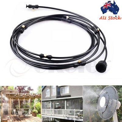 6M Outdoor Cool Patio Misting System Fan Cooler Water Mist Gardenhouse Spray Hot