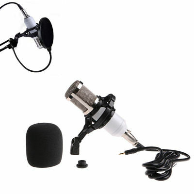 New BM800 Condenser Dynamic White Microphone+Shock Mount Sound Studio Recording