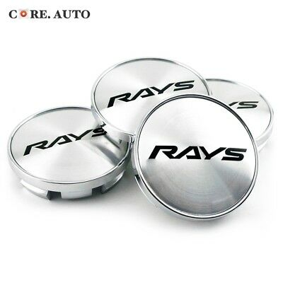 4pc 61mm/ 55mm RAYS Wheel Center Cap Emblem For Alessio MonteCarlo Wheels Rim