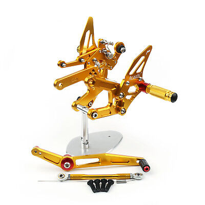 Motorcycle Adjustable Rearset Rearsets Foot Pegs For Yamaha Yzf R6 2017 Gold AU