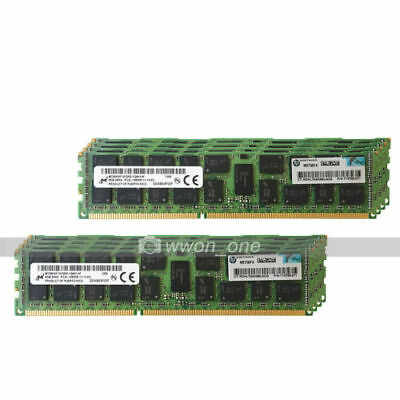 Micron 64GB 8X8GB 2RX4 PC3L-12800R DDR3-1600Mhz 1.35V ECC Registered Server RAM