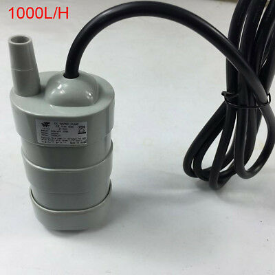 DC12V 5M Water Head Submersible Under Bath Pump W/ Black Cable 1000L/H NEW