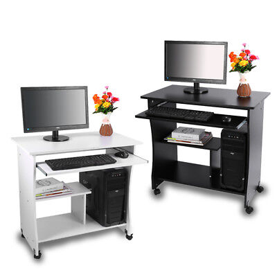 computertisch b rotisch arbeitstisch pc tisch schreibtisch mit drucker regal wow eur 75 99. Black Bedroom Furniture Sets. Home Design Ideas
