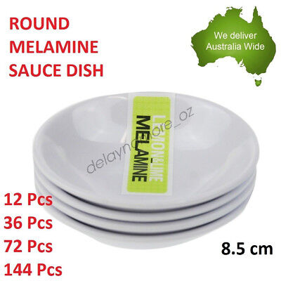 Round Melamine Dip Bowls Sauce Dishes White Party Cafe Restaurant Dipping NEW