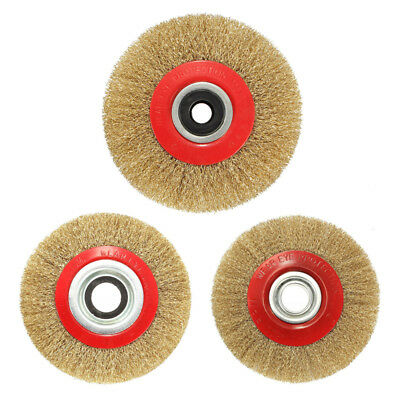 Wire Brush Wheel for Bench Grinder Polish + Reducers Adaptor Rings,5inch 12 B5T9