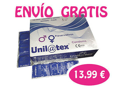 144 PRESERVATIVOS UNILATEX  NATURALES : condones, gomas, condoms,baratos
