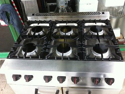 Commercial  Catering 6 Burner Gas Cooker / Oven   Equipment