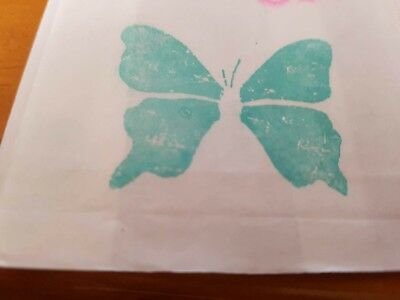 Set Of 12 Small Butterfly 14 X 8 Size White Cake Bags