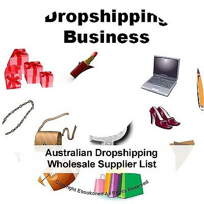 Australian Dropshipping Wholesale Supplier List Work From Home Business Books CD