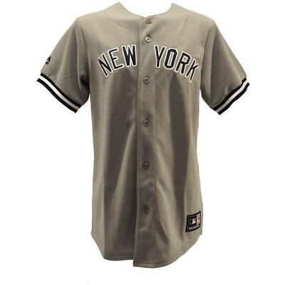 New Majestic Athletic MLB NY Yankees Jersey Grey