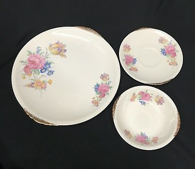 Paden City Pottery Rosalee China 8 Dinner Plates 8 saucers and 4 bowls 1930s & PADEN CITY POTTERY Rosalee China 8 Dinner Plates 8 saucers and 4 ...