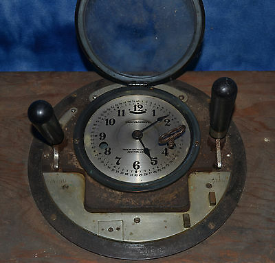 Vintage CALCULAGRAPH Time Clock Telephone Calculagraph Co., NY with Key !