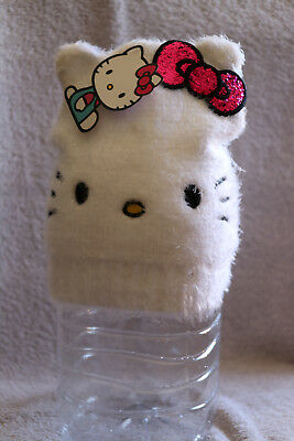 HELLO KITTY - Super Soft and Fuzzy with Glitter Bow Fall Hat Winter Cap Beanie