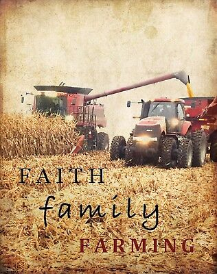 John Deere Tractor Art Print Motivational Poster Farming Toys Decor Gifts MVP112