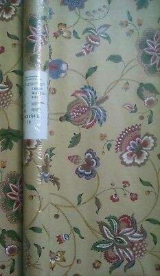 "Schumacher Revetement Mural Vintage Wallpaper 27"" x 32"" Floral Vintage Double"