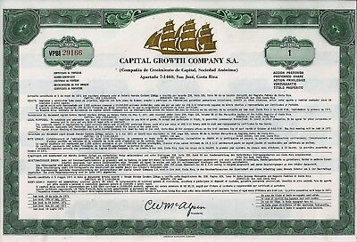 CAPITAL GROWTH Company S.A., San Jose, Costa Rica (25 Shares Pref.) + Coupons