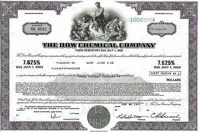 The Dow Chemical Company, 7,625% Debenture due 2003, 1977 (100.000 $)