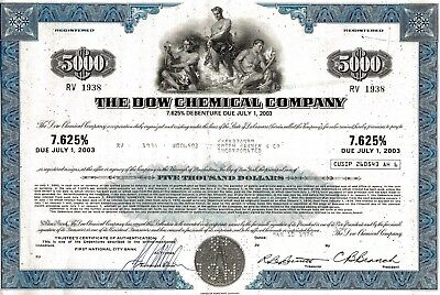 The Dow Chemical Company, 7,625% Debenture due 2003, 1975 (5.000 $)