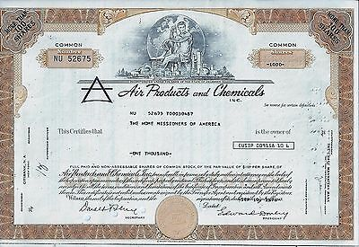 Air Products and Chemicals Inc., Delaware, 1976 (1.000 Shares, ocker)