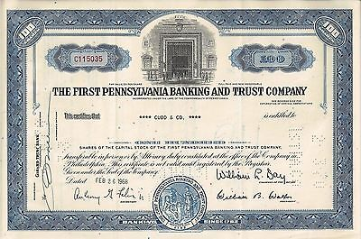 The First Pennsylvania Banking and Trust Company, 1968 (100 Shares)