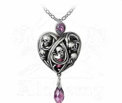 Keepers of the Tyrian Pendant - Alchemy Gothic Skull/Heart Jewellery P742