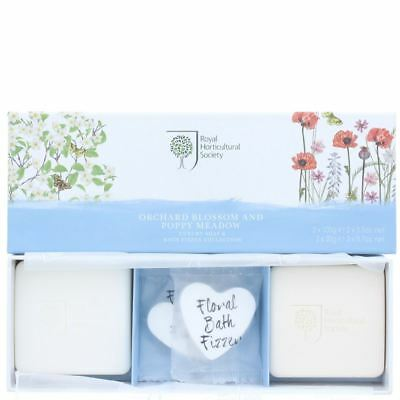 Bronnley Luxury Soap And Bath Fizzer Collection - Orchard Blossom & Poppy Meadow