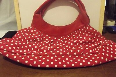 Handbag red and white poke a dots, Made by Passport Accessories.