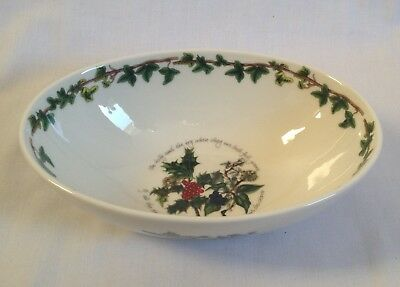 Portmeirion The Holly and Ivy Oval Bowl / Dish - 8 Inch -  NEW & UNUSED