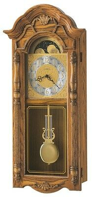 Howard Miller 620-184 Rothwell - Traditional Oak Chiming Wall Clock 620184