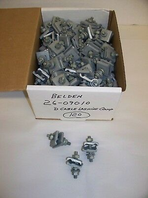 (Lot of 120) Belden 26-09010 D Cable Lashing Clamps