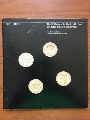 RARE S. Hallock du Pont Collection of United States Coins: Part I Sotheby's 1982